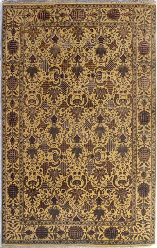 Ковры ручной работы индия шерсть с шелком